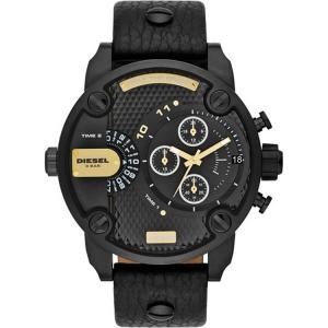 Diesel DZ7286 Watch Strap Black Leather