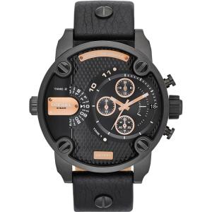 Diesel DZ7291 Watch Strap Black Leather