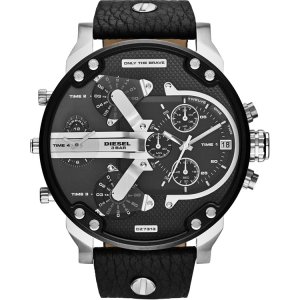 Diesel DZ7313 Watch Strap Black Leather