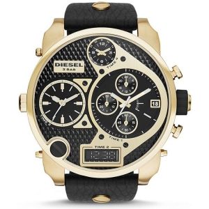 Diesel DZ7323 Watch Strap Black Leather