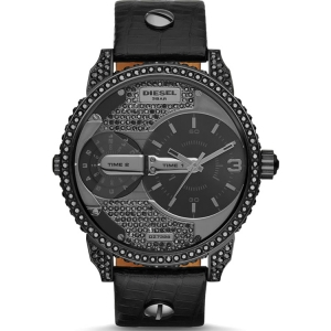 Diesel DZ7328 Watch Strap Black Leather