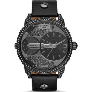 Diesel DZ7328 Watch Strap Black Leather