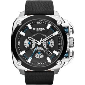 Diesel DZ7345 Watch Strap Black Leather