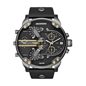 Diesel DZ7348 Watch Strap Black Leather