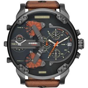 Diesel DZ7332 Watch Strap Brown Leather