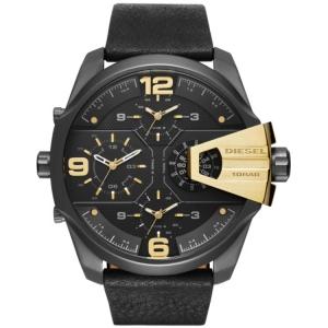 Diesel DZ7377 Watch Strap Black Leather