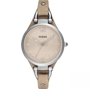 Fossil Georgia ES2830 Watch Strap Beige Leather