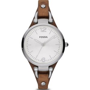Fossil ES3060 Watch Strap Brown Leather