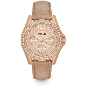 Fossil ES3363 Watch Strap Beige Leather