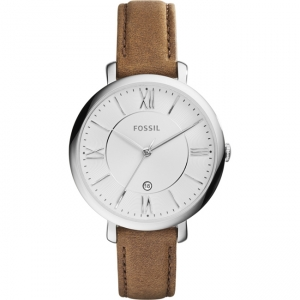 Fossil Jacqueline ES3708 Watch Strap Brown Leather