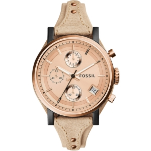 Fossil ES3786 Watch Strap Beige Leather