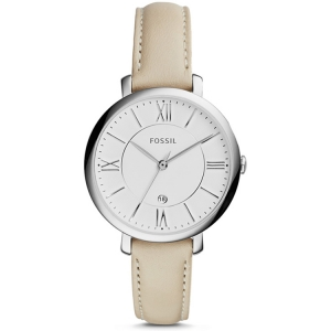 Fossil ES3793 Watch Strap Beige Leather