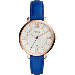 Fossil ES3795 Watch Strap Blue Leather