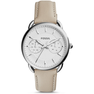 Fossil ES3806  Watch Strap Beige Leather