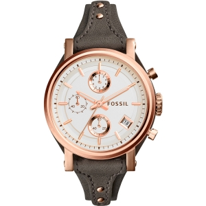 Fossil ES3818 Watch Strap Grey Leather