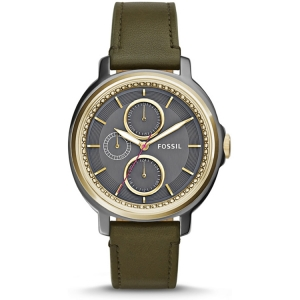 Fossil ES3833 Watch Strap Green Leather