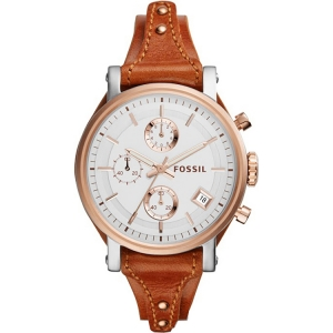 Fossil ES3837 Watch Strap Brown Leather