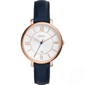 Fossil Jacqueline ES3843 Watch Strap Blue Leather
