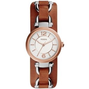 Fossil ES3855 Watch Strap Brown Leather