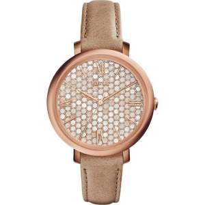 Fossil ES3866 Watch Strap Beige Leather