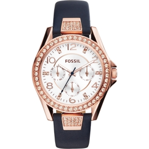 Fossil ES3887 Watch Strap Blue Leather