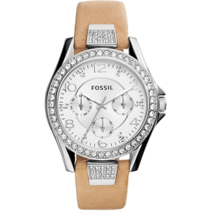 Fossil ES3889 Watch Strap Brown Leather