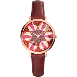 Fossil ES3904 Watch Strap Red Leather