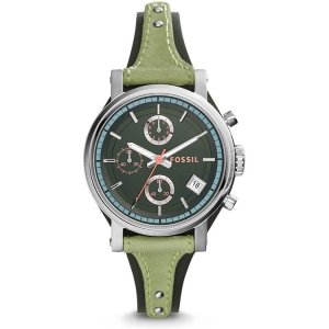 Fossil ES3905 Watch Strap Green Leather