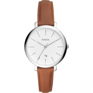 Fossil Jacqueline ES4368 Watch Strap Brown Leather