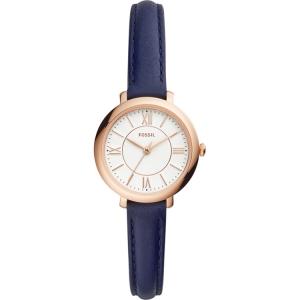 Fossil Jaqcueline Mini ES4410 Watch Strap Blue Leather