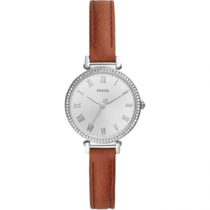 Fossil Kinsey ES4446 Watch Strap Brown Leather