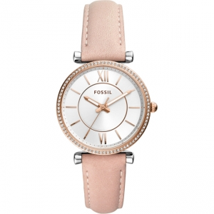 Fossil Carlie ES4484 Watch Strap Pink Leather