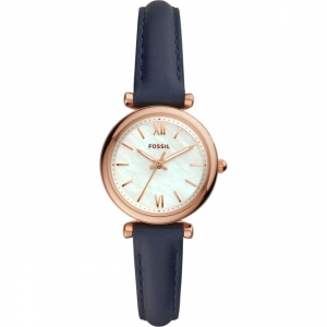 Fossil Carlie Mini ES4502 Watch Strap Blue Leather