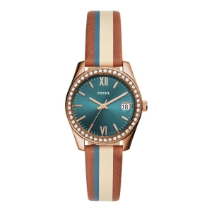 Fossil ES4593 Watch Strap Brown Multicolor Leather
