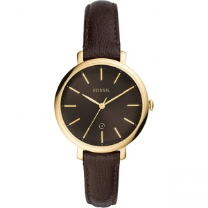Fossil Jacqueline ES4969 Watch Strap Brown Leather