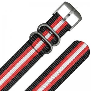 Luminox 3050, 3060, 3080, 3090, 3150, 3950 ZULU Strap Black Red White Nylon 23mm - FN.3950.31H