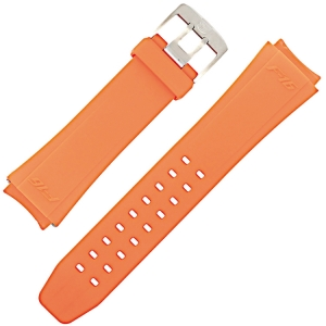 Luminox Series 9109, 9123, 9125, 9129 Watch Band F16 Fighting Falcon Orange Rubber