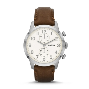 Fossil FS4872 Watch Strap Brown Leather