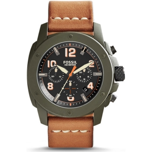 Fossil FS5035 Watch Strap Brown Leather