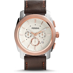 Fossil FS5040 Watch Strap Brown Leather
