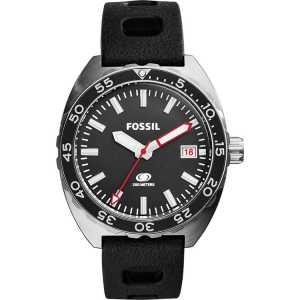 Fossil FS5053 Watch Strap Black Rubber