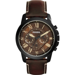 Fossil FS5088 Watch Strap Brown Leather