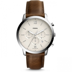 Fossil Neutra Chrono FS5380 Watch Strap Brown Leather
