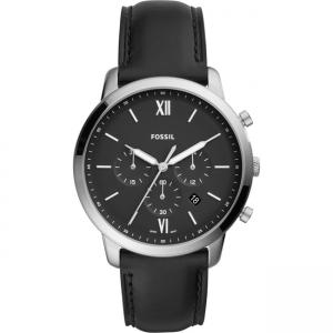 Fossil Neutra Chrono FS5452 Watch Strap Black Leather