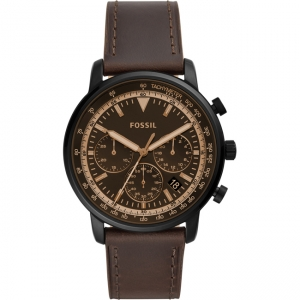 Fossil Goodwin FS5529 Watch Strap Brown Leather