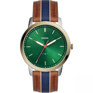 Fossil Minimalist FS5550 Watch Strap Brown Leather