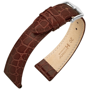 Hirsch Aristocrat Watch Band Crocograin Brown
