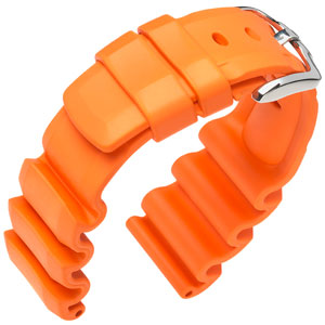 Hirsch Extreme Premium Caoutchouc Watch Band Orange 300m WR