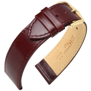 Hirsch Osiris Watch Band Box Leather Burgundy