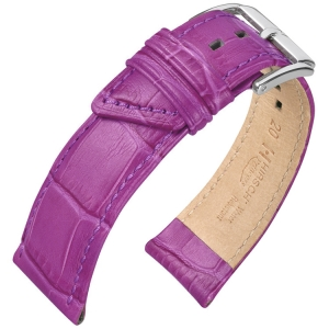 Hirsch Princess Watch Strap Alligator Grain Lilac